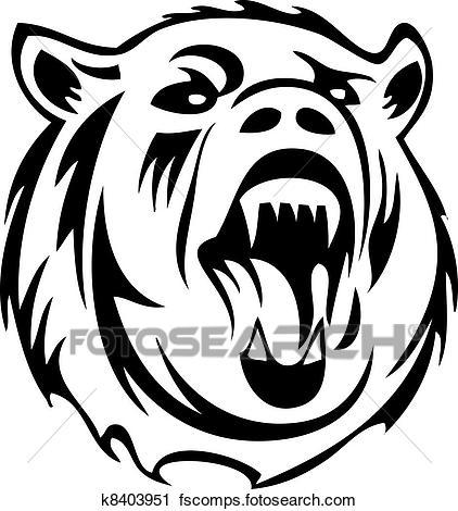 422x470 Clipart Of Bear Silhouette K8403951