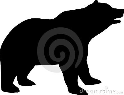 400x305 Grizzly Bear Silhouette Clipart