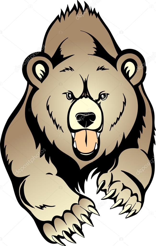 650x1023 Grizzly Bear Stock Vector Sushkonastya