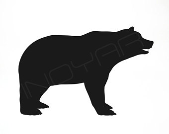 340x270 Grizzly Bear Svg Etsy