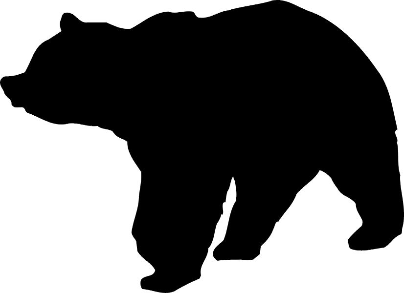 826x600 Grizzly Clipart Bear Silhouette