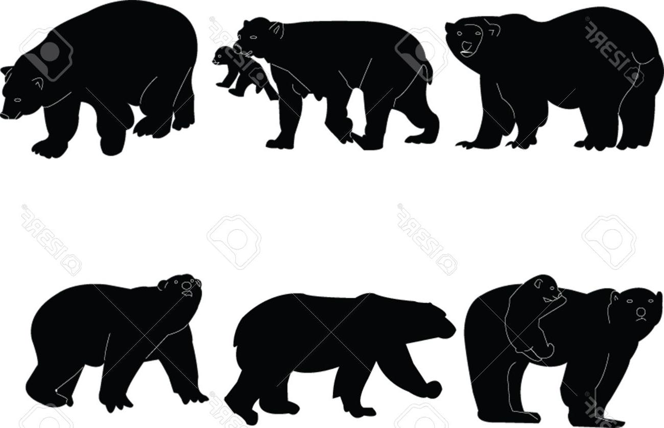 1300x837 Hd Bear Silhouette Vector Design Free Vector Art, Images
