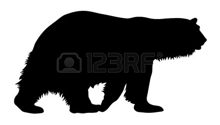 450x256 Vector Illustration Of Brown Bear Silhouette Royalty Free Cliparts