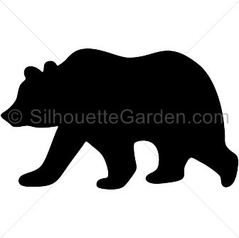Grizzly Bear Silhouette Vector | Free download best ...
