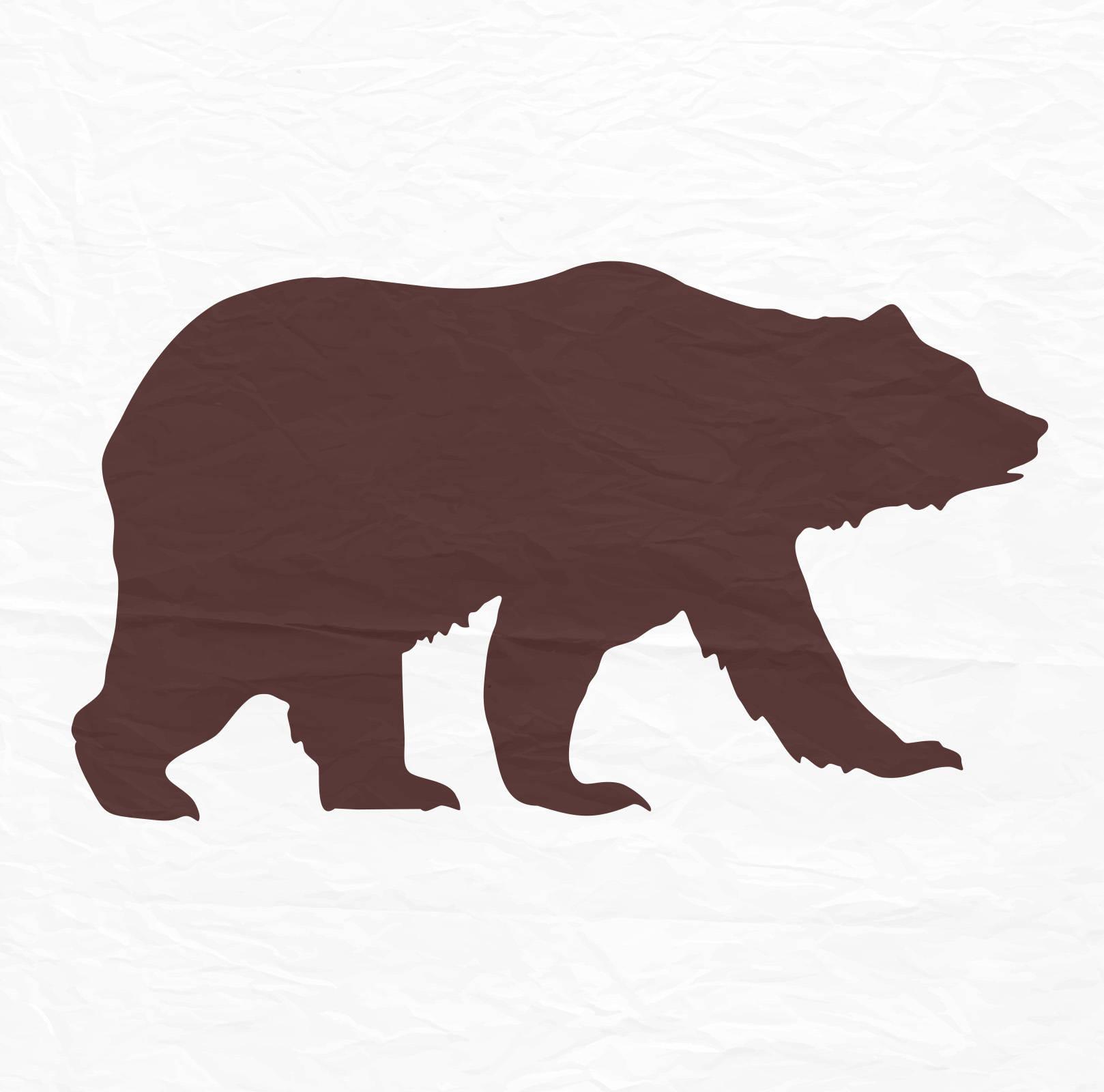 1618x1600 Bear Svg Bear Silhouette Bear Monogram Svg Svg Files