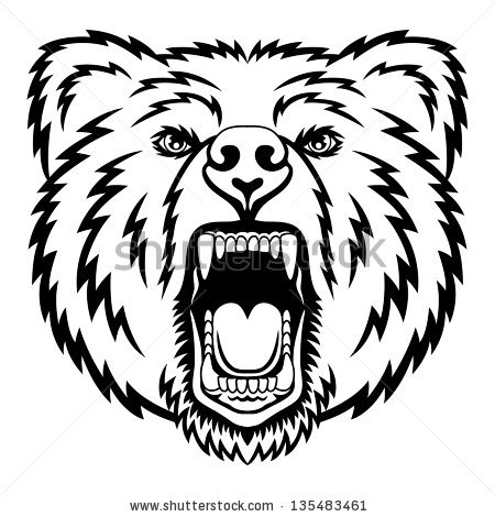 450x470 Grizzly Bear Clip Art Grizzly Bear Head Vector Item 3 Bears