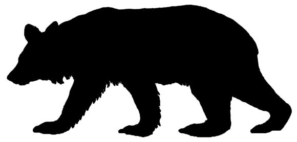 580x278 Grizzly Bear Silhouette Clip Art On Grizzly Bear Silhouette