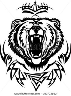 236x322 Black Celtic Bear Paw Tattoo Stencil Tattoos Bear