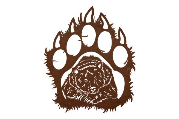 600x400 Grizzly Paw Wall Art