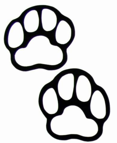390x475 Grizzly Bear Paw Clip Art Print Clipart