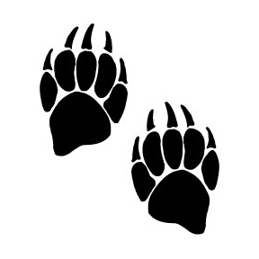 288x288 Grizzly Clipart Bear Tracks