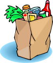108x128 Grocery Bag Clipart