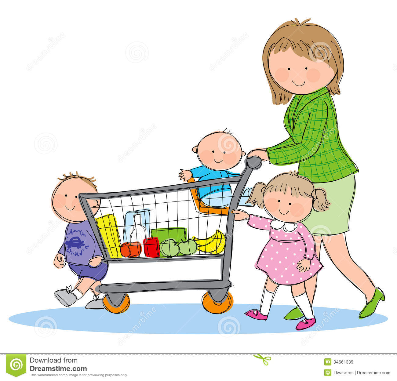 1300x1248 Grocery Shopping Pictures Clip Art Clipart Collection
