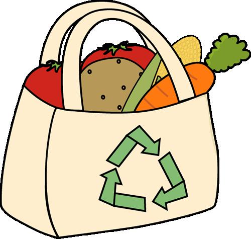 500x475 Eco Friendly Grocery Bag Clip Art