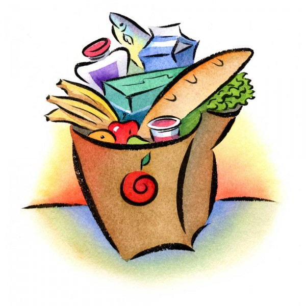 600x600 Grocery Bag Clip Art Many Interesting Cliparts