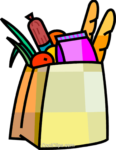 372x480 Grocery Store Items Royalty Free Vector Clip Art Illustration