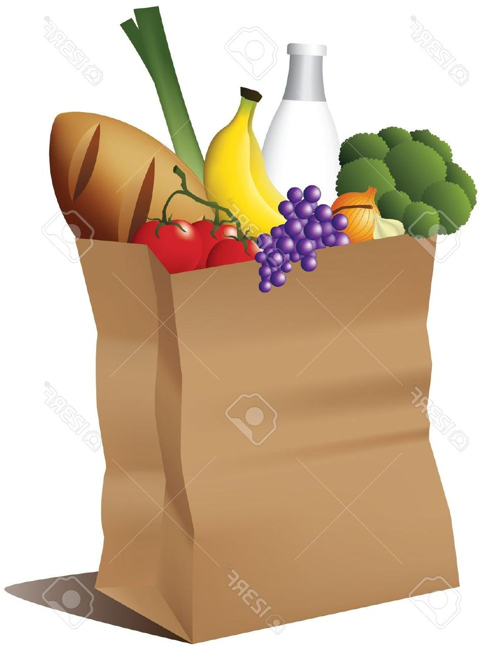 979x1300 Hd Groceries Bag Grocery Paper Clipart Images