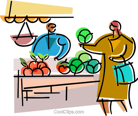 480x405 Miscellaneous Grocery Store Items Royalty Free Vector Clip Art