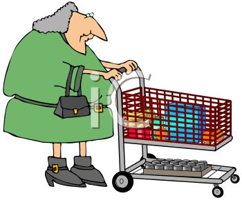 350x290 Old Woman Grocery Shopping