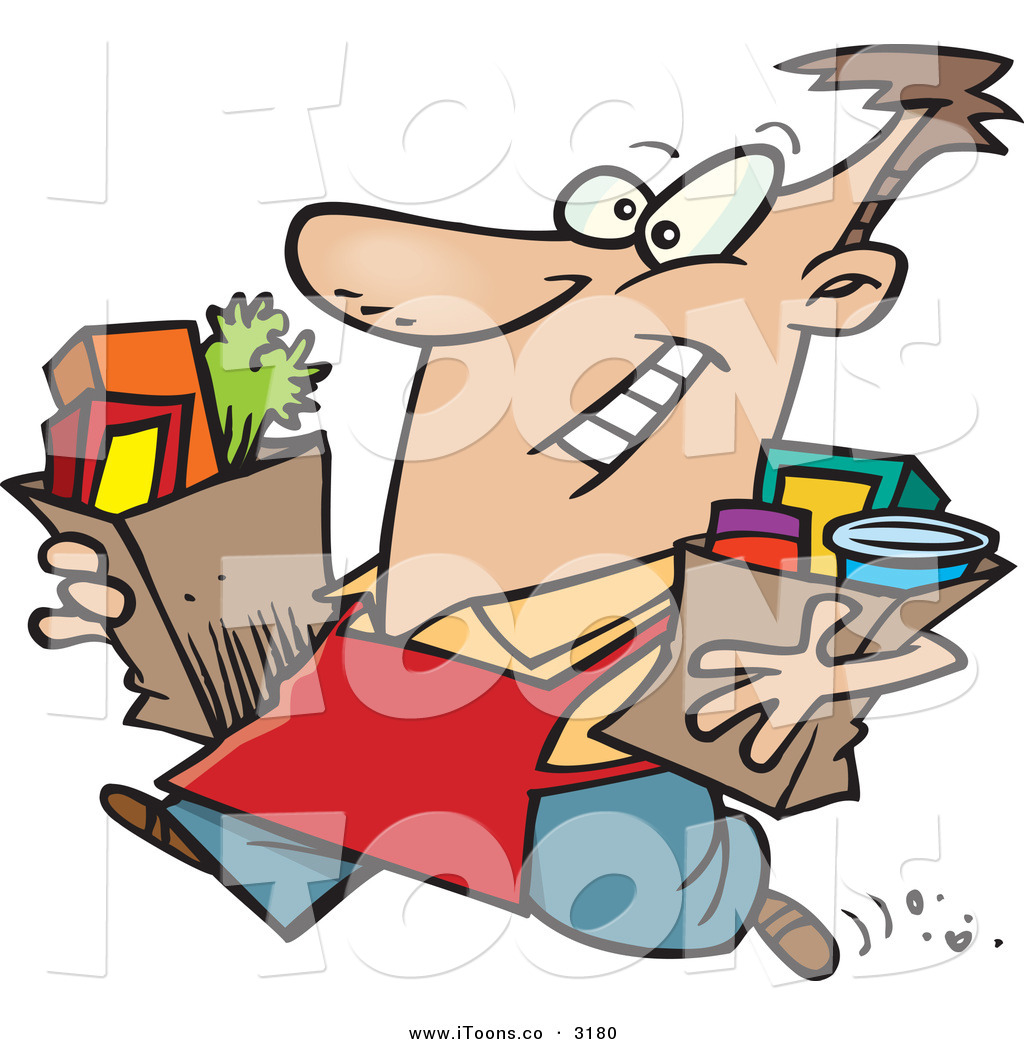 1024x1044 Vector Clip Art Of A Happy Caucasian Grocery Store Employee