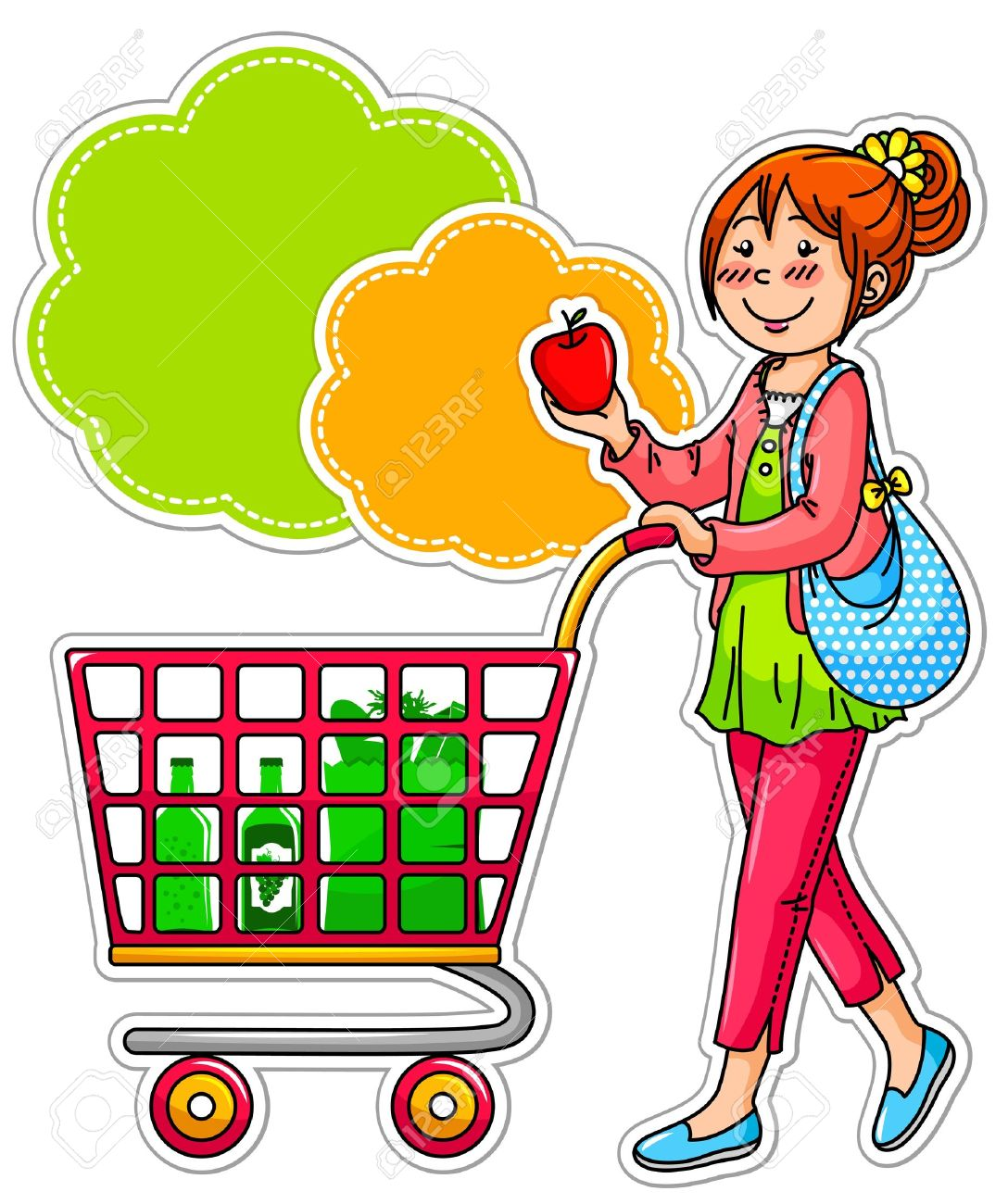 1088x1300 Basket Clipart Grocery Store