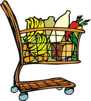 314x350 Cart Clipart Grocery Item
