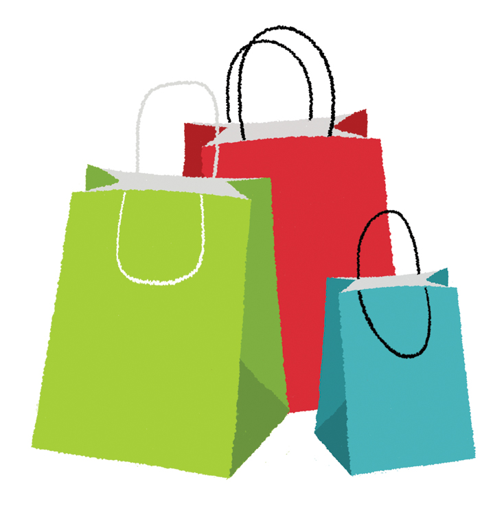 734x753 Shopping Bag Logos Images On Grocery Bags Arrows And Bag Clips