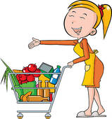 159x170 Grocery Shopping Cart Clipart
