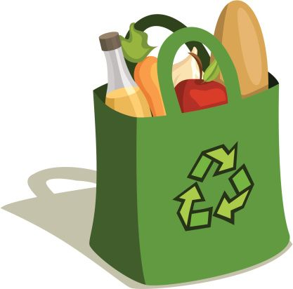 417x412 Shopping Bag Logos Images On Grocery Bags Arrows And Bag Clips