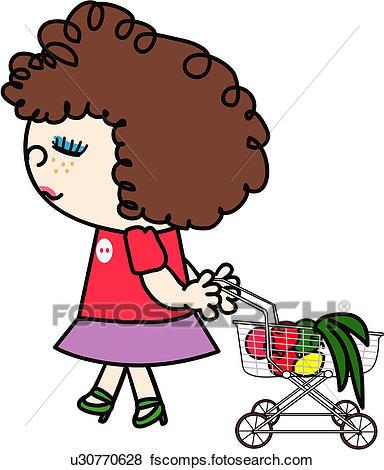 384x470 Clip Art Of Apple, Shopping Cart, Freckle, Supermarket, Cart