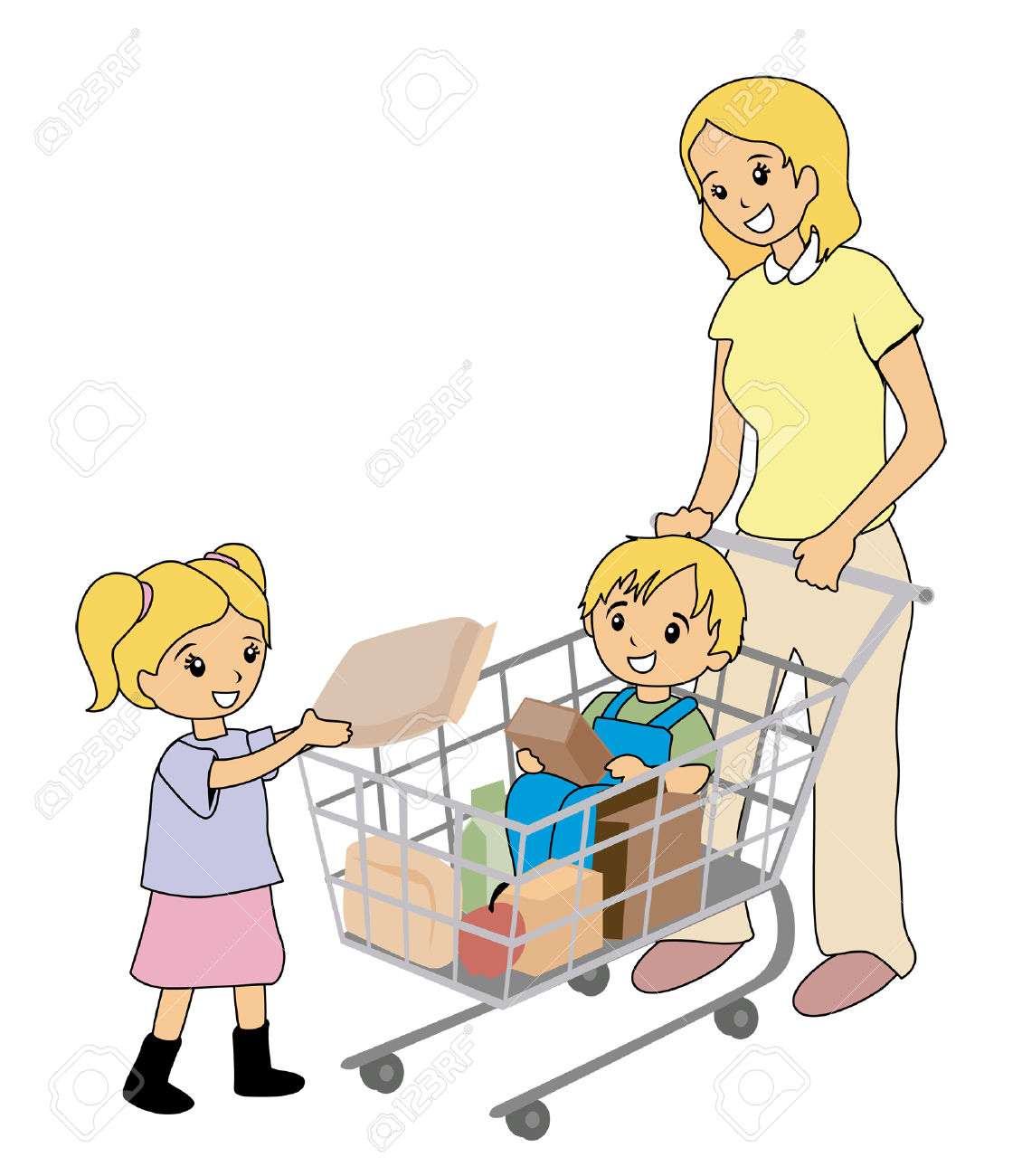 1130x1300 Clipart Grocery Store Boy Help
