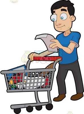 296x400 Grocery Shopping Clipart