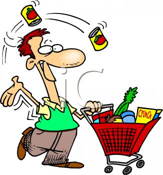327x350 Grocery Shopping Clipart