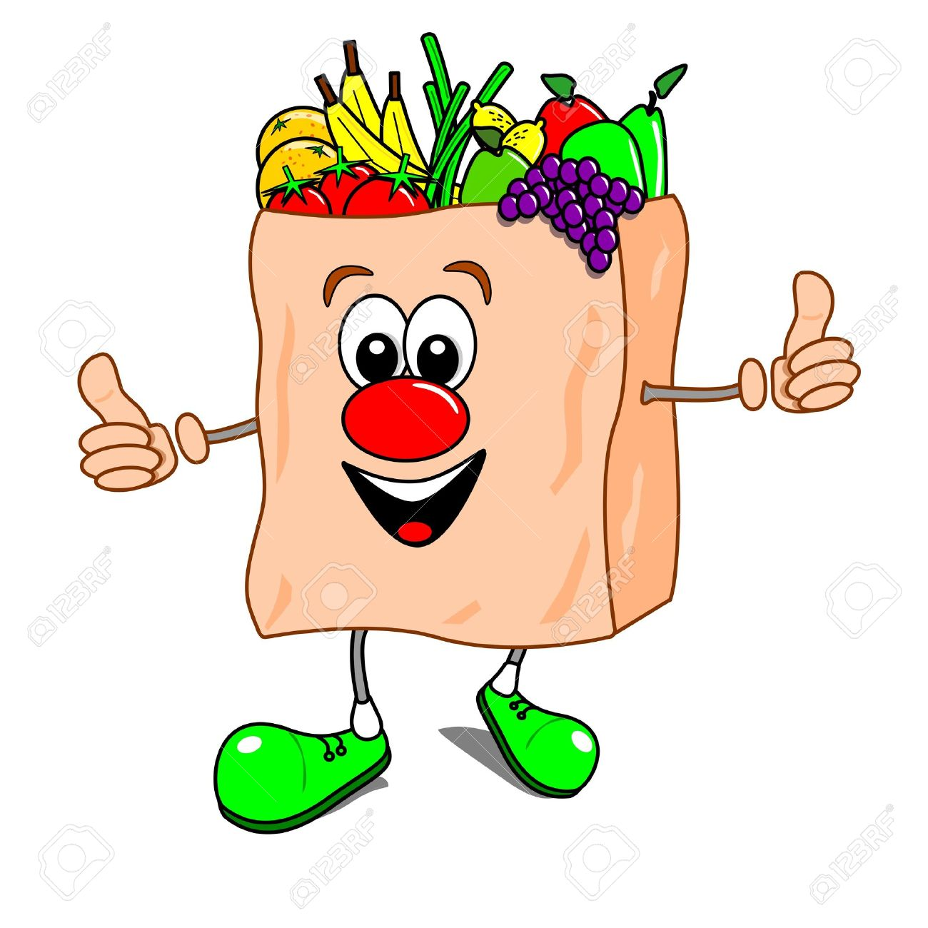 1300x1300 5,359 Grocery Bag Stock Illustrations, Cliparts And Royalty Free