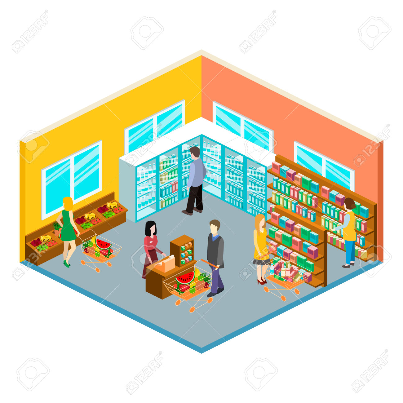 1300x1300 Mall Clipart Grocery Store