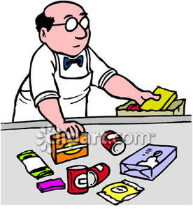 276x300 Store Worker Clipart