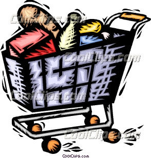 294x308 Trolley Clipart Supermarket Shopping