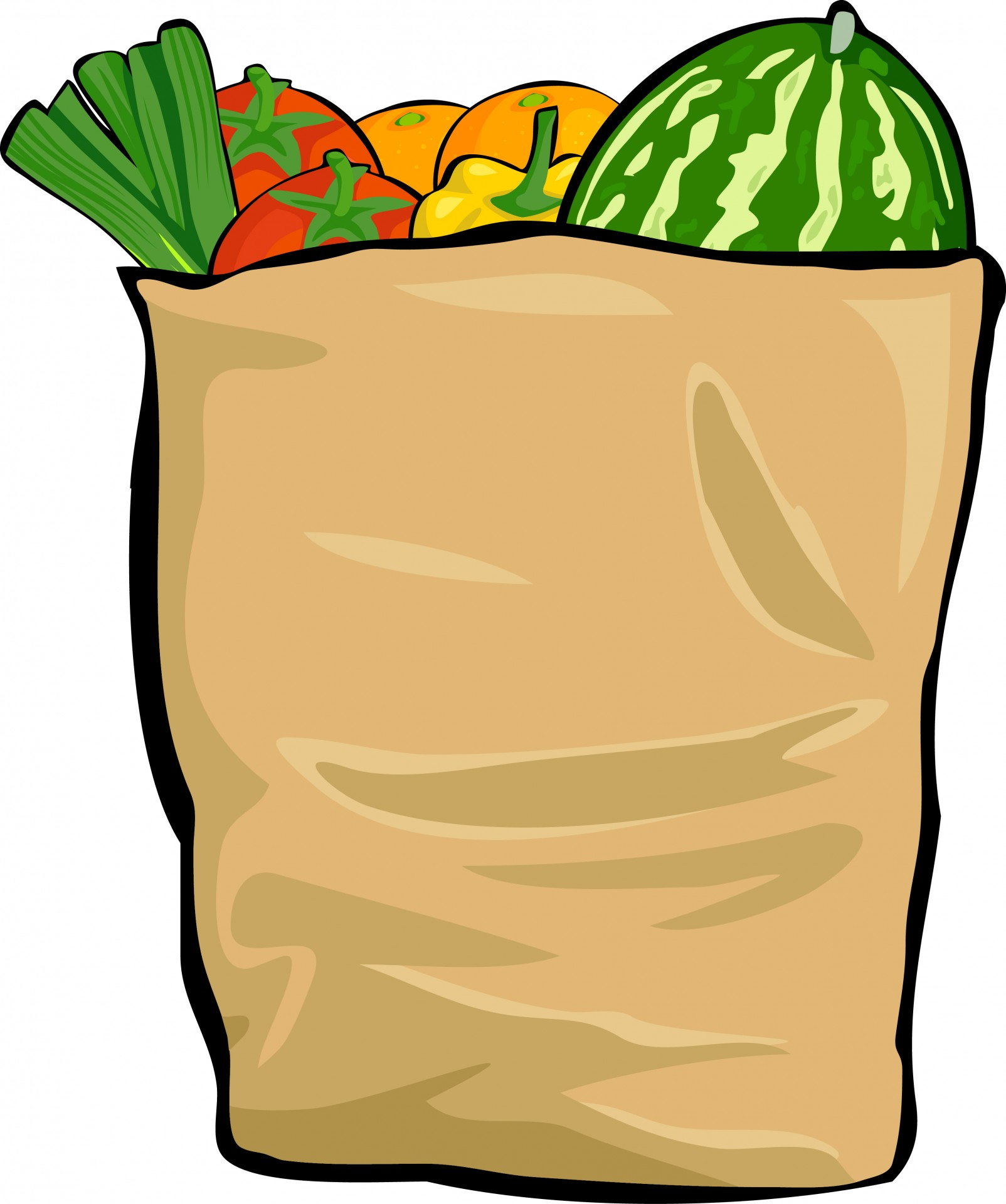 1604x1920 Bag Of Food Free Clipart