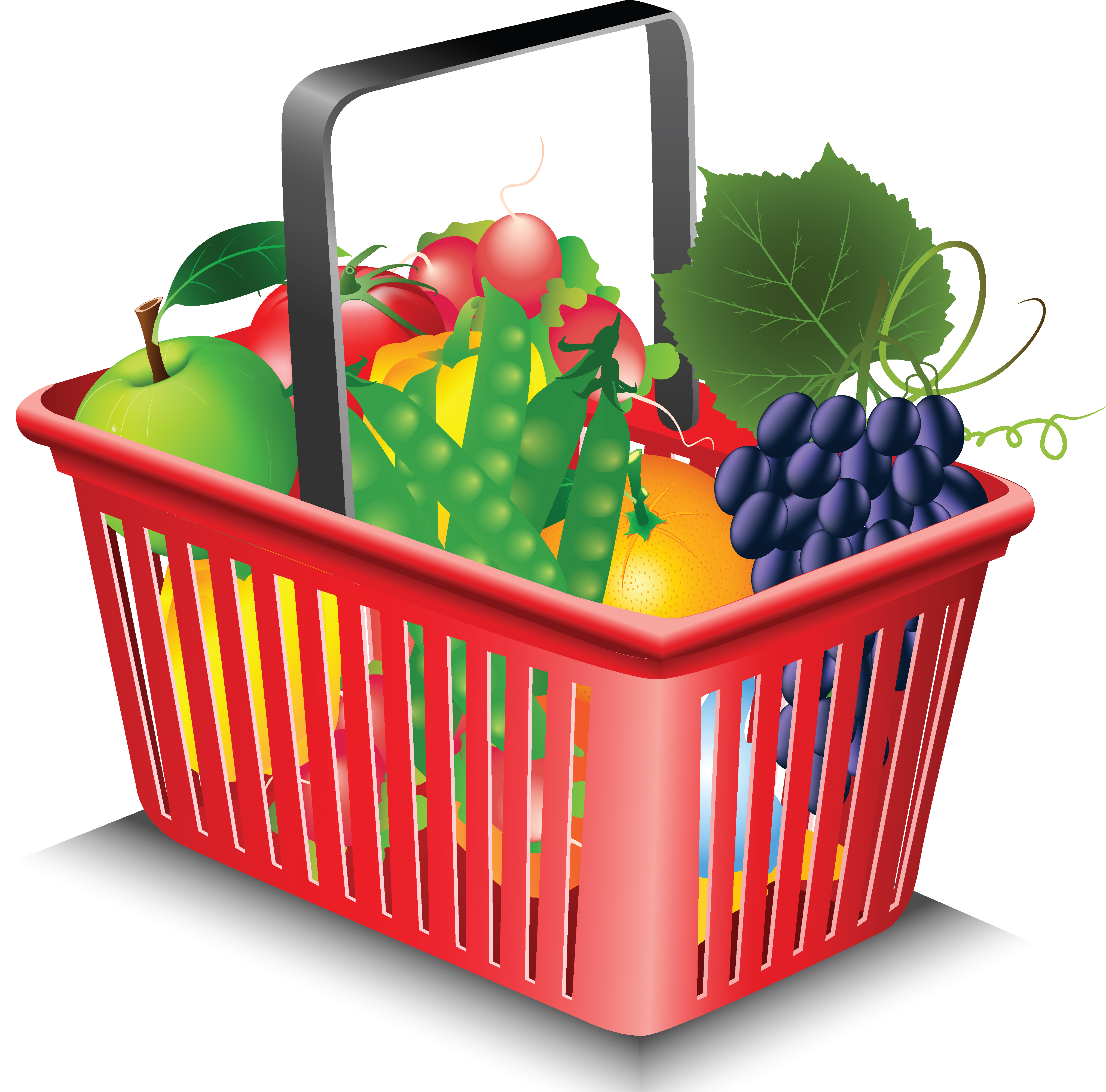 4062x4009 Bag Clipart Grocery Basket