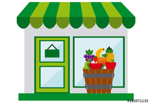 500x348 Fruit Stand Grocery Store Logo. Buy This Stock Template