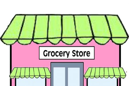 450x300 Grocery Store Building Clip Art