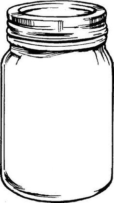 236x417 Free Mason Jar Tempplates An Ink Drawing Of A Mason Jar Clipart