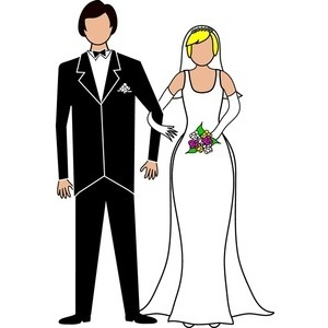 300x300 Bride And Groom Clipart Black And White Free 2