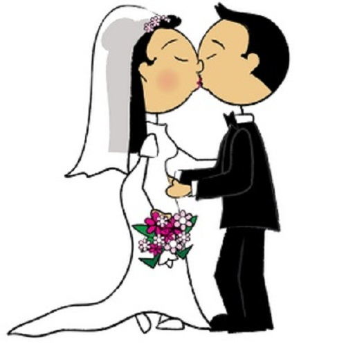 500x500 Kiss Bride And Groom Clipart