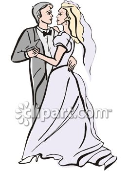 263x350 Bride And Groom's First Dance Clip Art