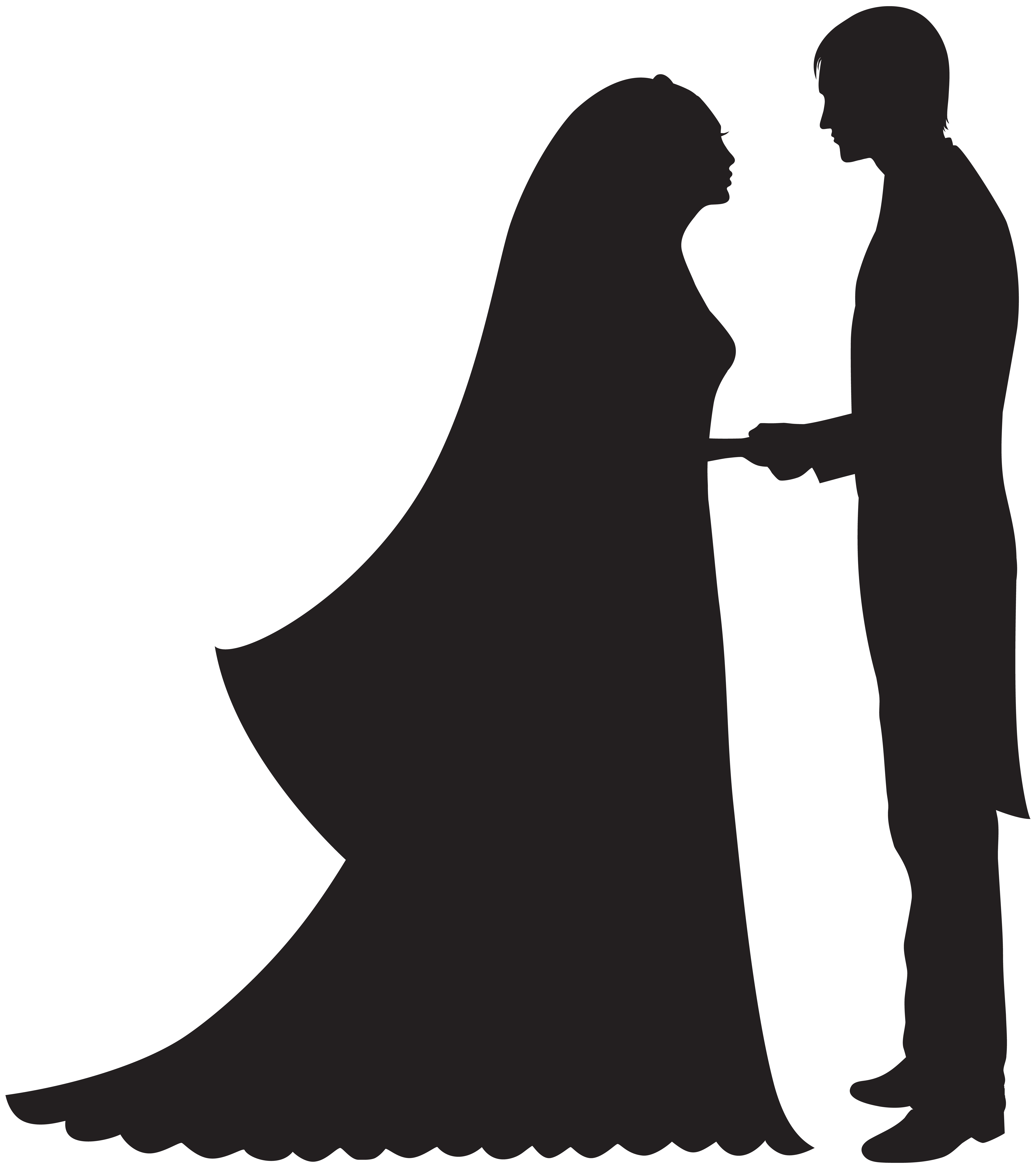 7089x8000 Bride And Groom Png Clip Art