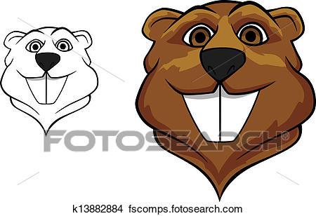 450x308 Clipart Of Beaver Mascot K13882884