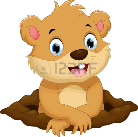 450x445 Cute Groundhog Cartoon Royalty Free Cliparts, Vectors, And Stock