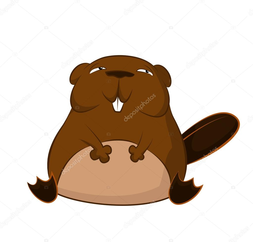 1023x978 Funny Cartoon Beaver Stock Vector Kolonorf