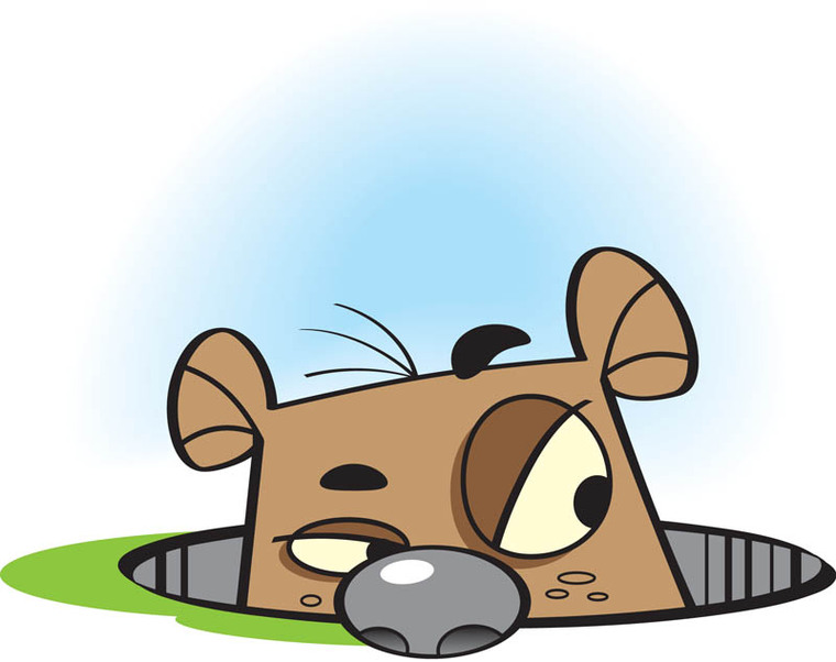 760x602 Groundhog Day Clipart